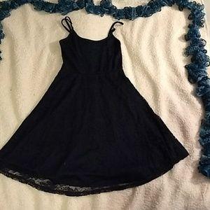 Navy blue lace layered dress size small